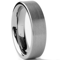 Ultimate Metals Co. Tungsten Carbide Unisex Men's Women's Brushed Wedding Band Anniversary Ring Comfort Fit, 4MM