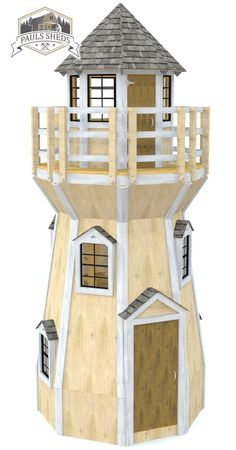 A 3 story shed.  Features a total of 155 SqFt.  Download the plan today!