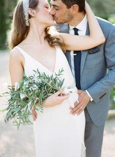Sweet destination wedding: http://www.stylemepretty.com/2015/03/27/lush-organic-destination-wedding-in-provence/ | Photography: Greg Finck - http://www.gregfinck.com/