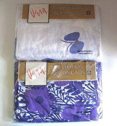 Vintage Vera Collection Butterfly Party Burlington Full Flat Fitted Sheet Set | eBay