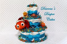 finding nemo baby shower google search more baby diaper cakes baby