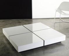 Dean coffee table by modloft | modern living room furniture