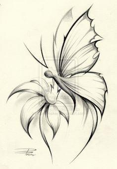 Butterfly Flower by davepinsker.deviantart.com on @DeviantArt