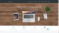 Influence - One Page Business Template. Influence is fully responsive professional one page template, based on the newest Bootstrap Incredible quick sta. Personal Resume, Bootstrap Template, Job Portal, Page Layout, Most Popular, Templates, Business, Design, Stencils