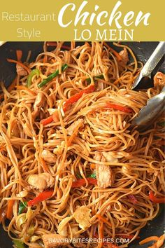 Try this best ever-better than restaurants Chicken Lo Mein! Better than takeout chicken lo mein recipe is very easy and so good! Recipe For Lo Mein Noodles, Spicy Chicken Lo Mein Recipe, Chicken Chow Mein, Pf Changs Lo Mein Recipe, Easy Chinese Recipes, Asian Recipes, Chinese Noodle Recipes, Asian Foods, Soup Recipes