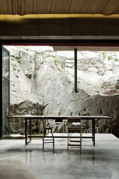 Mediterranean Home Interior Beautiful South Korean Building Utilizes Unusual Topography to Its Advantage Architecture Details, Interior Architecture, Interior And Exterior, Interior Design, Diy Pool, House On The Rock, Pool Designs, Land Scape, Great Rooms