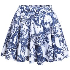 Elastic Waist Pastel Floral Print Skirt (625 PHP) ❤ liked on Polyvore featuring skirts, white, white knee length skirt, short floral skirt, floral printed skirt, elastic waist skirt and pattern skirt