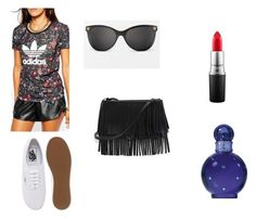 aaaaa by marina-lage on Polyvore featuring adidas, Vans, White House Black Market, Versace, MAC Cosmetics and Britney Spears