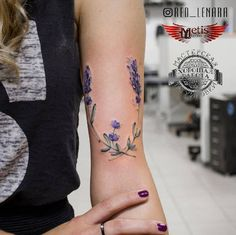 Lovely lavender branches by Lenara