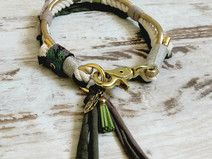 Halsband *Vagabond* Green Romance (Wunschgröße)