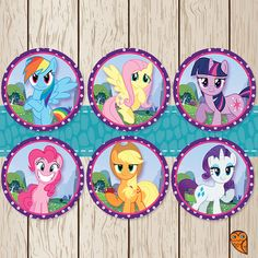 Printable My Little Pony Cupcake Toppers / by BrightOwlCreatives, $2.00