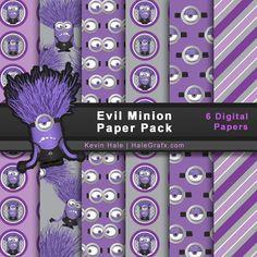 FREE Despicable Me Evil Minions Digital Paper Pack