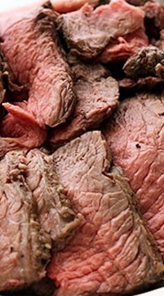 Perfectly Simple and Sliceable CrockPot Roast Beef Recipe