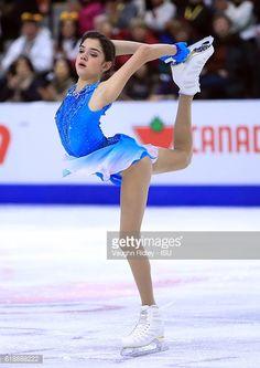 Evgenia Medvedeva of Russia competes in the...