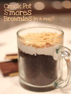 Crock Pot S'mores Brownies (In a Mug!)