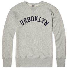 Ebbets Field Flannels Brooklyn Crew Sweat (Heather Grey)
