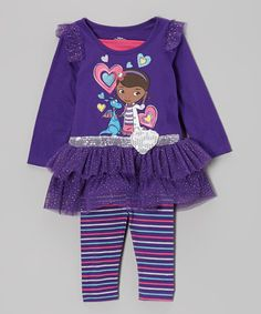 Take a look at this Purple Doc McStuffins Ruffle Tunic & Leggings - Toddler & Girls by Disney on #zulily today!