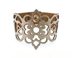 "Laser Cut Leather Jewellery ""Victoriana"" Collection by Lydia Wall Millinery…"