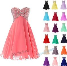 Short Formal Sweetheart Beaded Ball Gown Cocktail Party Homecoming Prom Dresses