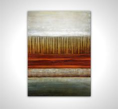 Landscape painting  Anniversary gift  Abstract canvas painting - Abstract artwork by Matt Regton, $149.00