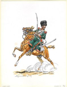 chasseur a cheval, kingdom of italy, 1812