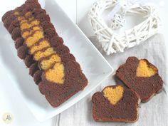 Plumcake col Cuore - variegato miele e cacao