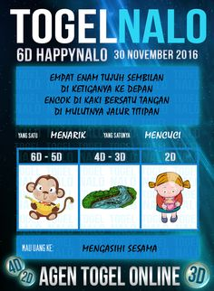 Bocoran Kop Togel Wap Online Live Draw 6D Kupon HappyNalo Jakarta 30 November 2016