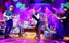 Coldplay performing at St John at Hackney Church in London for the Annie Mac show on Radio 1