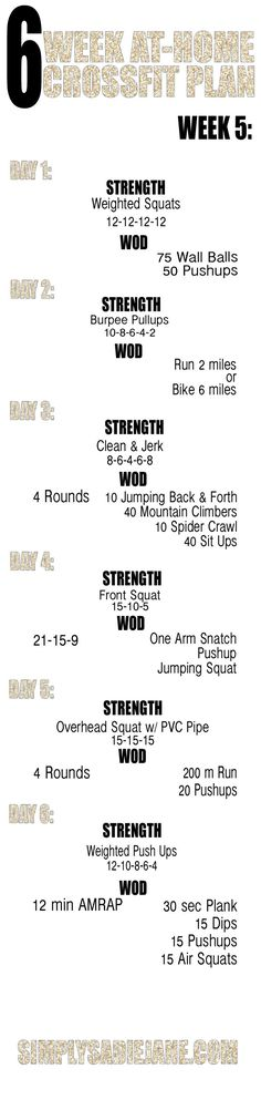 WEEK 5 CROSS FIT