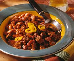 Here's chili the way Texans like it: with chunks of beef. For the crushed  hot dried chile peppers, use cayenne, de arbol, pequin, serrano seco, or tepin. Use 12 to 50 peppers (depending on size) to equal 1 to 2 tablespoons crushed.