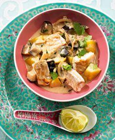 Rezept für Fisch-Curry bei Essen und Trinken. Ein Rezept für 2 Personen. Und weitere Rezepte in den Kategorien Fisch, Gemüse, Gewürze, Kartoffeln, Kräuter, Nüsse, Hauptspeise, Suppen / Eintöpfe, Braten, Kochen, Asiatisch, Einfach, Gut vorzubereiten.