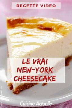 Le vrai New-York cheesecake Healthy Vegan Desserts, Quick Easy Desserts, Vegan Dessert Recipes, Quick Cheesecake Recipe, Cheesecake Desserts, Classic Cheesecake, Cheesecakes, Bon Dessert, Coco