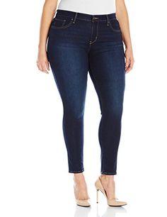 Like An Angel Jeans Women's Plus Size Skinny Ankle Cuff | Brand ...