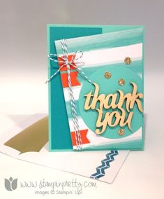 Stampin up stamp it pretty stamping my paper pumpkin card kit idea thank you banner punch masculine