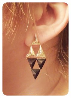 A Link Between Worlds Triforce Earrings by Zoroko on Etsy, $10.00 with a Link…