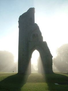 Glatsonbury Abbey, Glastonbury, England - setting idea for TCS, the placement, the light peering through the archway, it's empowering.  This is where Vannah decides what to do with her fate.
