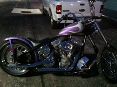2010 Harley-Davidson CUSTOM Chopper , Purple and Silver, 1,000 miles for sale in Cols, OH