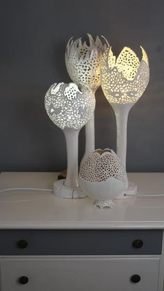 Design product lamp awesome 53 new Ideas Diy Table, Table Lamp, Diy 2019, Gourd Lamp, Bedroom Lamps, Easy Diy Crafts, Living Room Lighting, Lamp Bases, Lamp Design