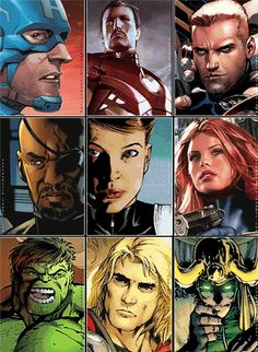 Avengers comics to actors