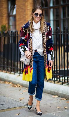 Sofia Sanchez de Betak Pair pointed heels with a chunky winter coat. Winter Outfits For Work, Holiday Outfits, Simple Outfits, Work Outfits, Chic Outfits, Street Style 2017, Fashion Weeks, Street Looks, Winter Stil