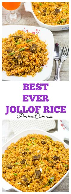 """""""This is the best rice I ever had!"""" exclaimed a lady who recently tried this at a party. Best Jollof Rice recipe ever."""