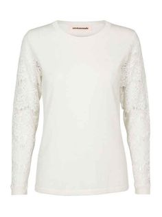 Custommade Dominika Cashmere Lace Sleeved Pullover at atticwomenswear.com