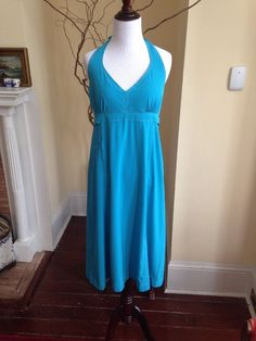Athleta PACK EVERYWHERE XL 16 TURQUOISE BLUE Built-in Support Bra WOMENS DRESS #Athleta #Sundress #SummerBeach #packeverywhere #travel #swim #pool #beach #spring2015