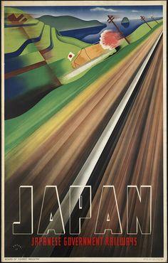 Vintage travel posters// Japan