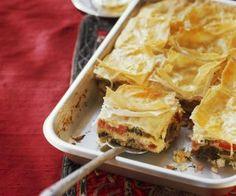 Rezept: Gemüse-Feta-Auflauf mit Yufka-Teig (Börek)