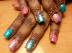 Candy Stripes by tyetye - Nail Art Gallery nailartgallery.nailsmag.com by Nails Magazine www.nailsmag.com #nailart