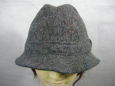 Pendleton Hat Gray Crushable 100% Mens Pure Virgin Wool USA Made VTG Large EUC #Pendleton #CrushableHat