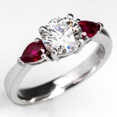 Excellent Cut 1 Carat Diamond Engagement Ring Platinum