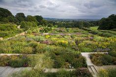 Yorkshire garden | Tom Stuart-Smith. Tapestry borders blending to landscape beyond.