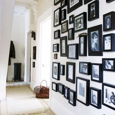 :: WALLS :: a random collection of black frames make for a perfect picture wall #walls